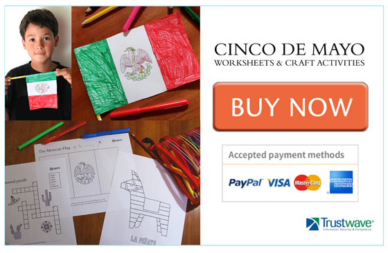 cinco de mayo worksheets school make crafts activities