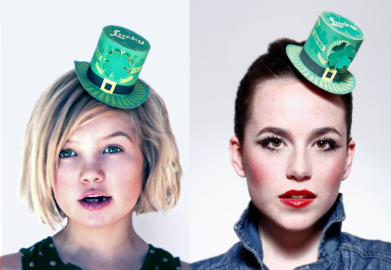 St Patrick's Day top hat template