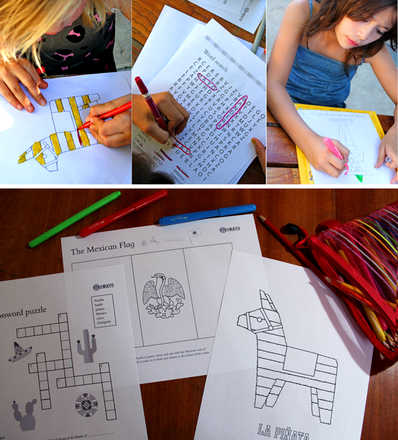 cinco de mayp activity worksheets school college