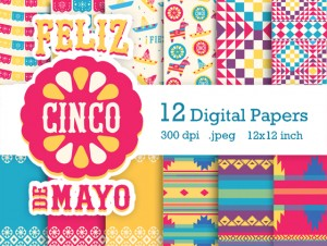 Cinco de Mayo scrapbooking papers and images