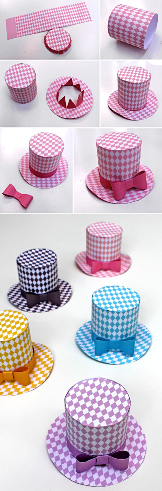 A step by step guide to assembling your diamond party hats Diamond party hat pattern  Download 5 Mini Top Hats templates . Diy Party Hats Template. Home Design Ideas