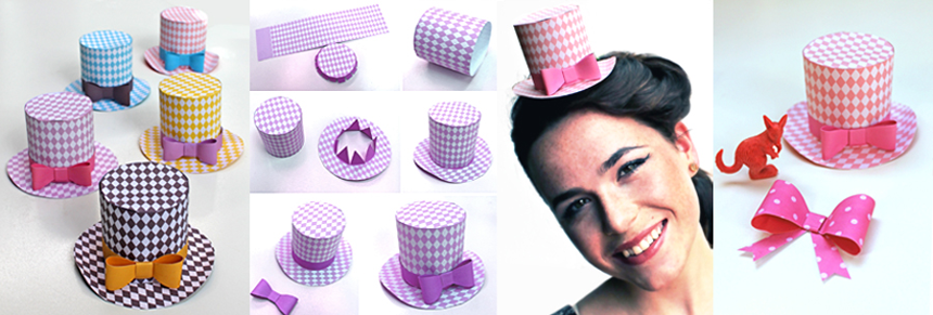 ideas no sew mini top hat formula party fashion