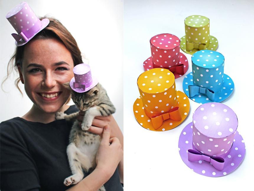 Polka dot mini top hat - Celebrate in style!