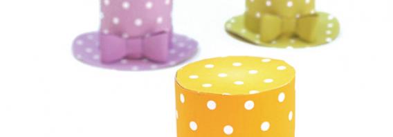 Mini polka dot hats party pattern