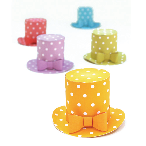Mini polka dot hats party pattern