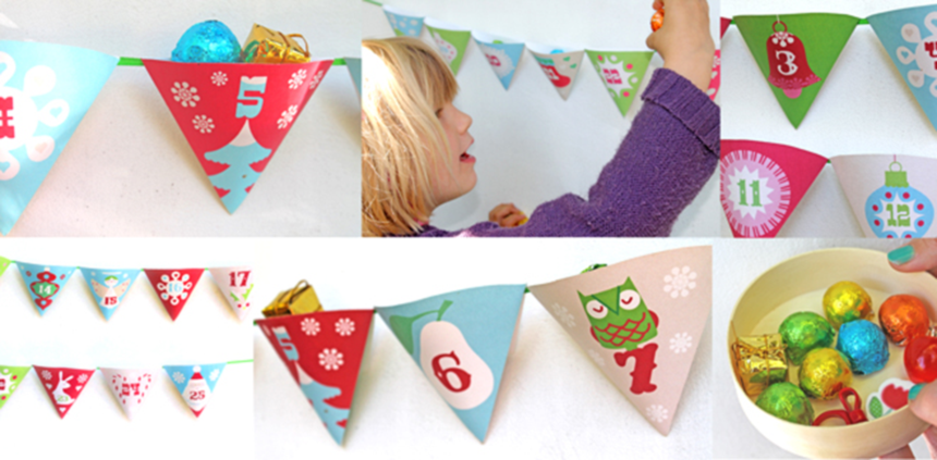 Printable advent calendar december christmas craft!