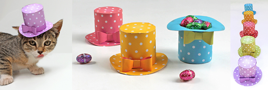 Cute polka dot mini top hat spotty accessories event fashion no sew!