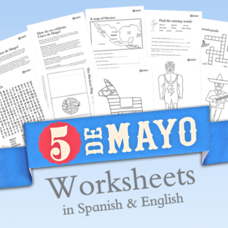 Cinco de Mayo worksheets in spanish and english