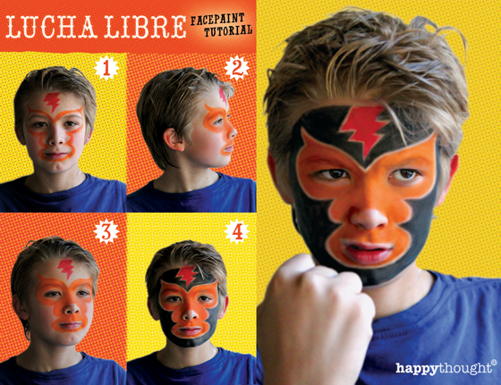 Lucha libre facepaint diy: Be a luchador for Cinco de Mayo!