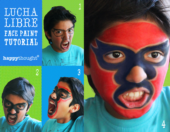 Cinco de Mayo Mexican festival: Lucha libre face paint tutorial