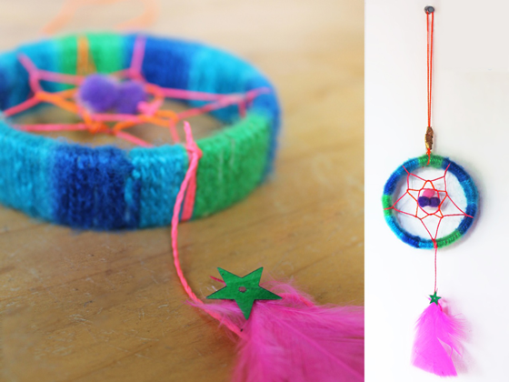 Dreamcatcher craft ideas: How to make a dreamcatcher for a classroom art activity!