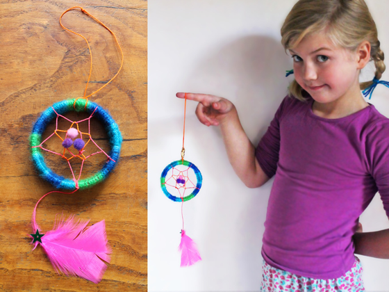 Dreamcatcher craft ideas: Mini dreamcatchers for a classroom art activity!