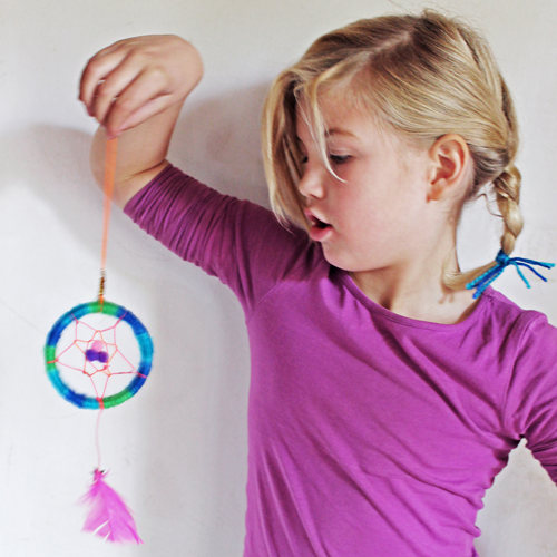tutorial photo instructions dreamcatcher craft ideas
