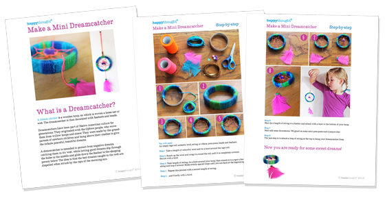 printable pdf classroom worksheets to make multi cultural craft dreamcatcher