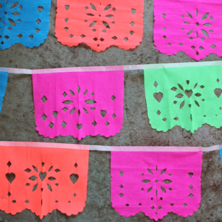 how to make papel picado from crepe paper