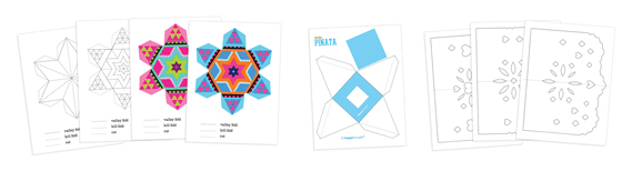 Mexican paper craft templates: DIY decorations for a fiesta!