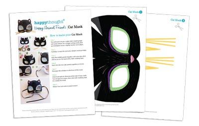10 Printable Animal Masks templates cat