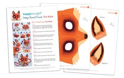 fantastic mr fox mask template - animalmask template
