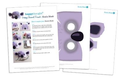 10 Printable Animal Masks - koala - templates