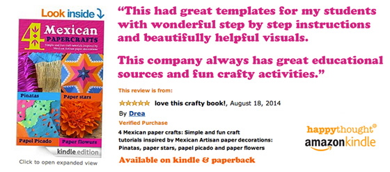 Mexican paper crafts template ideas! - Amazon kindle paperback craft book best seller
