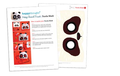 10 Printable Animal Masks panda mask template