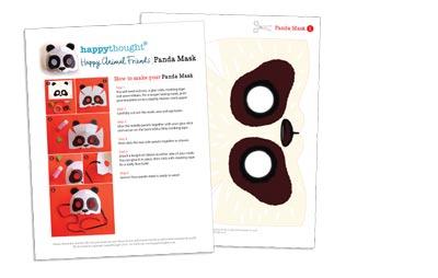 10 Printable Animal Masks panda mask template