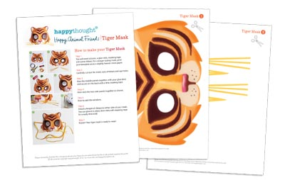10 Printable Animal Masks tiger template