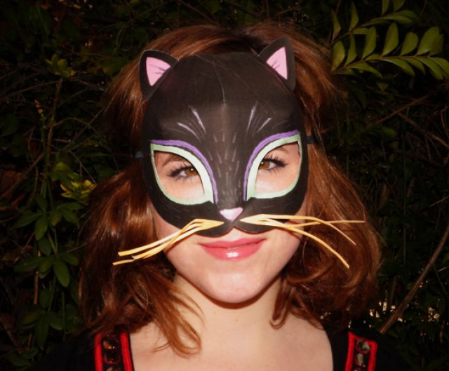 Cat animal mask templates to print