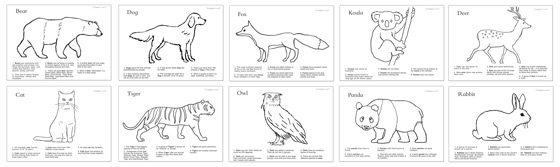 Printable animal masks: Animal color in and facts worksheets for class or homeschool