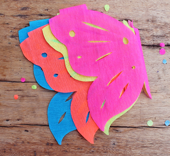 Day of the Dead: Crepe paper craft project butterfly papel picado decorations!