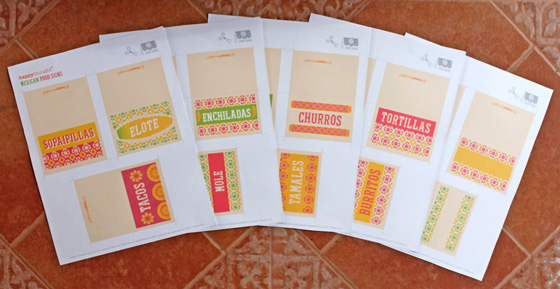 free printable mexican food signs for a party or fiesta