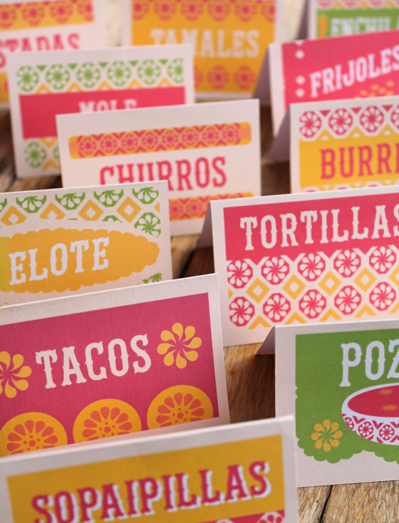 12 free mexican food signs to print out and make at home!