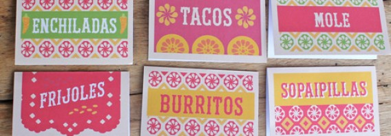 DIY printable Mexican food signs