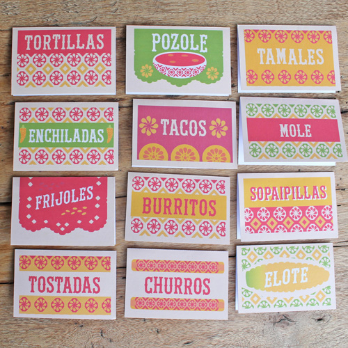 12 mexican printable food signs templates pdf