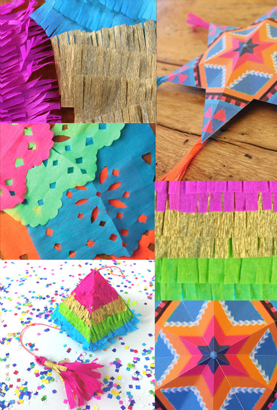 pinats papel picado paper stars and paper flowers