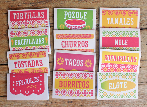99 food signs with a Mexican flavor