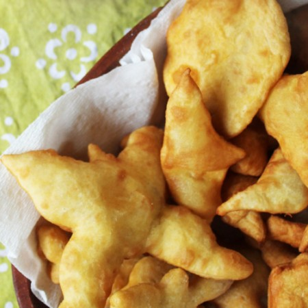 tasty sopaipillas in shapes for a rainy day snack!