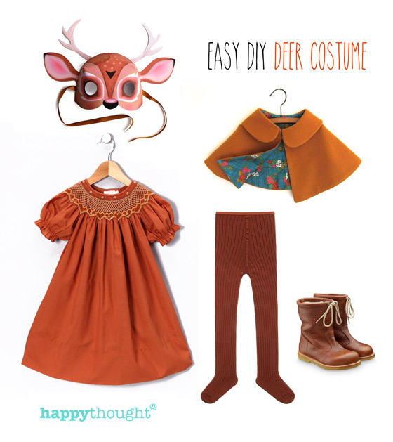 Animal costume ideas - Easy throw together deer costume with deer mask