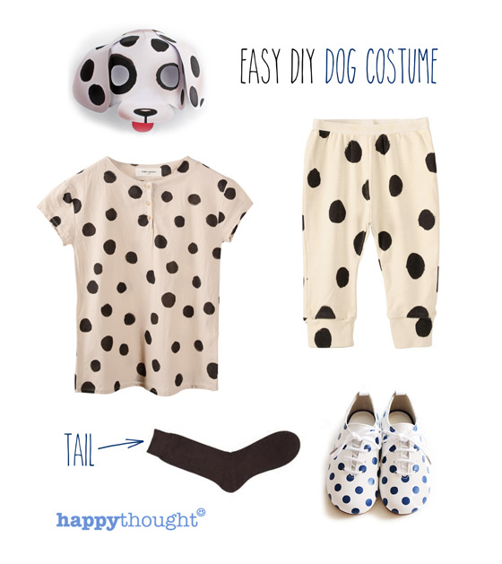 Easy to throw together dog costume with dog mask