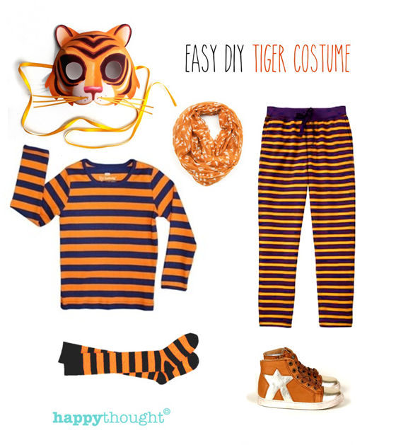Animal costume ideas - Easy throw together tiger costume with tiger mask