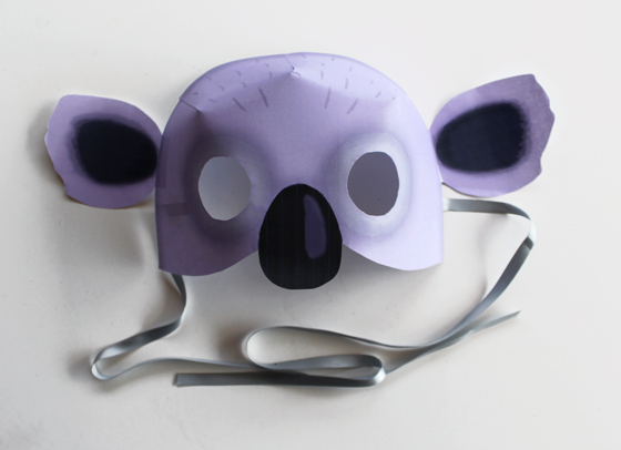 Koala - Animal mask: 10 Printable Animals