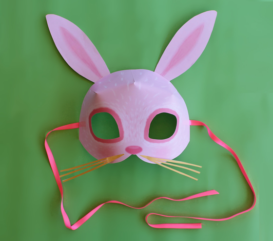 Luscious image in printable bunny mask