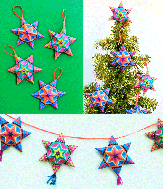 easy to make christmas paper star decorations for your tree - Christmas Decoration Video