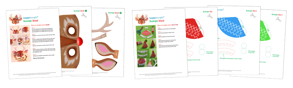 Rudolph mask pattern and template