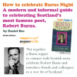 Host a Burns Night celebration!