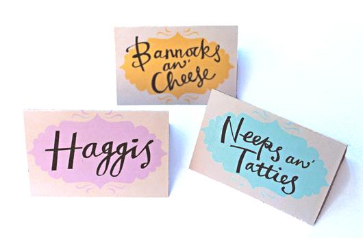 Haggis, Neeps and Tatties. Bannocks and Cheese