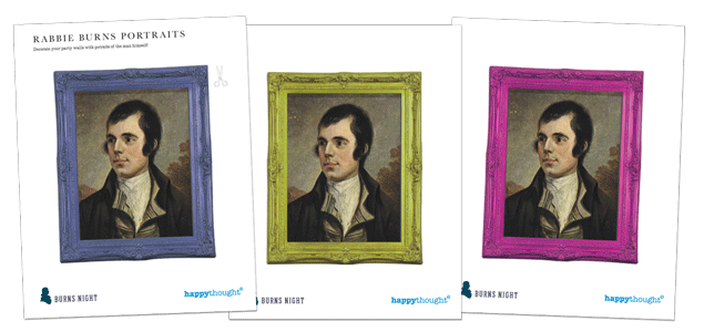 Burns night portraits by Alexander Nasmyth