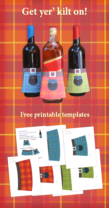 kilts to go on any bottle how cute