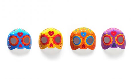 Calavera masks template ideas: Day of the Dead!