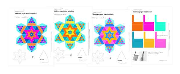 Make beautiful Mexican paper stars for decorations at home, colegio or school